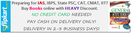 Flipkart.com buy books for IAS,IBPS,CAT,CMAT with discount!
