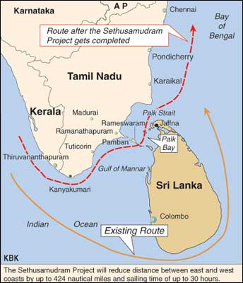 sethusamudram project Government will not break 'ram setu' for the proposed sethusamudram project and will see that the navigation system is put in place without damaging it.