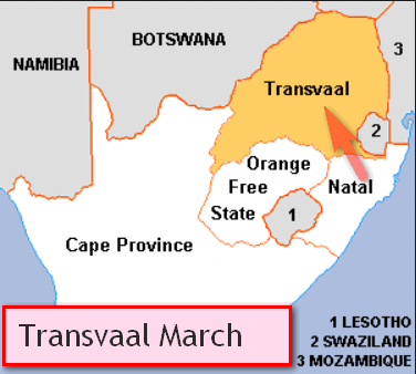 Gandhi in South Africa Transvaal March