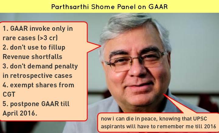 GAAR Parthsarthi Shome panel