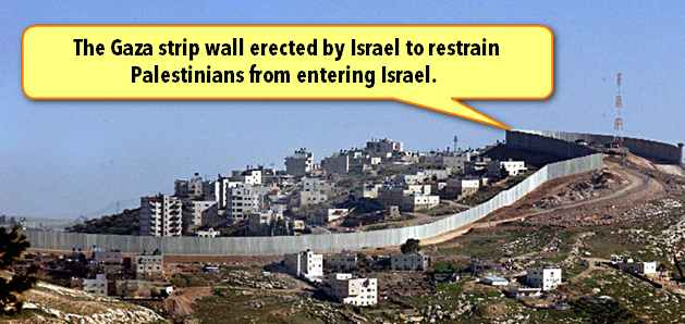 Gaza wall blockade