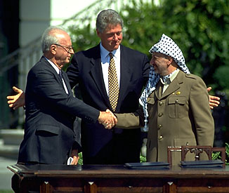 Israel-PLO accords for Palestine 1993