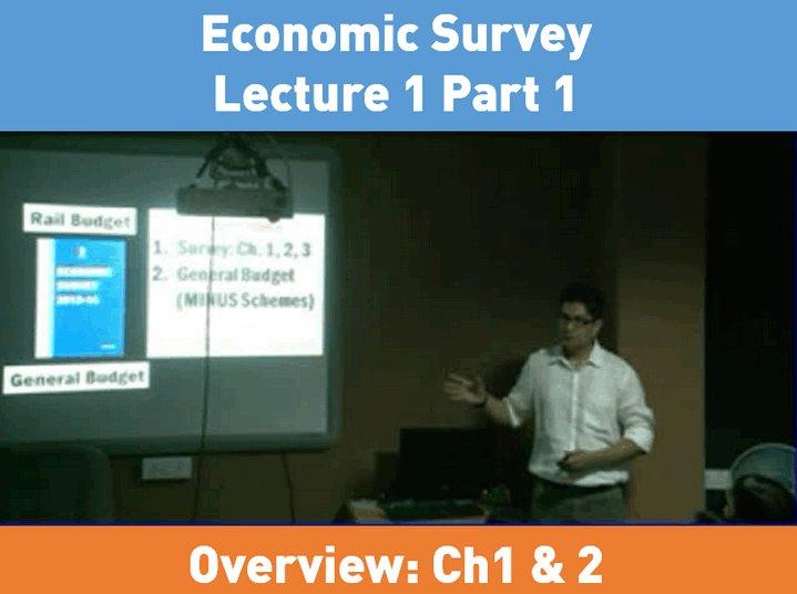 Economic Survey Lecture 1 Part 1