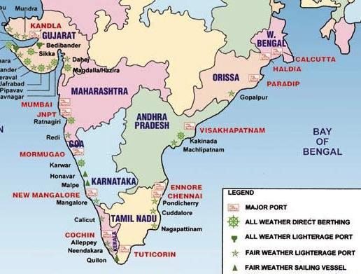 Major ports of India