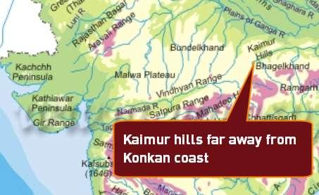 Map CSAT 2014 Kaimur hills