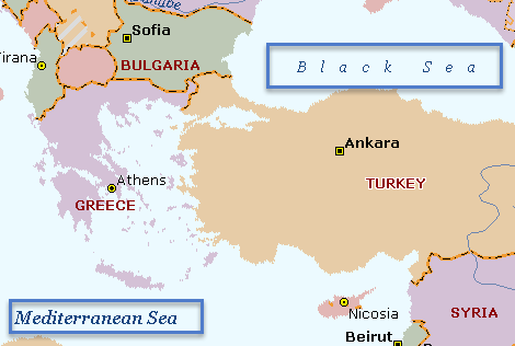 Map CSAT 2014 Turkey Location