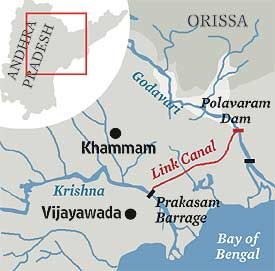 Map Polavaram Project Andhrapradesh