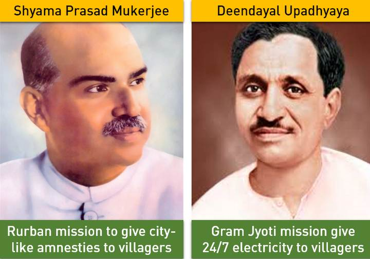 Schemes named after BJP Janshangh leaders
