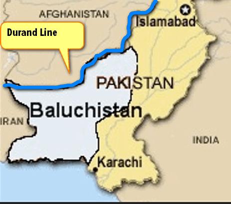 map-balochistan durand line