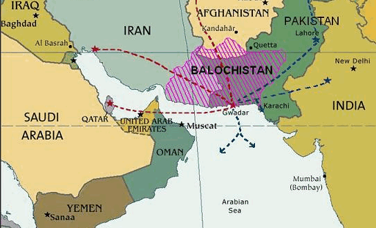 map-baluchistan durand line and gwadar port