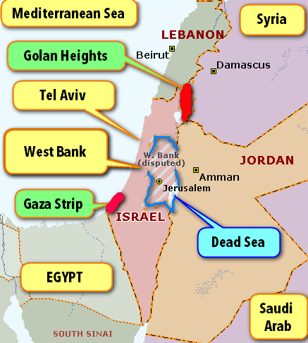 map israel West Bank