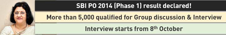 Cover SBI PO 2014 phase1 result