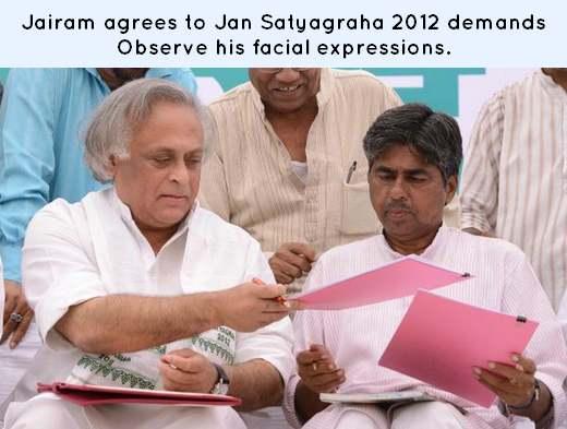 Jansatyagraha 2012 Jairam Ramesh