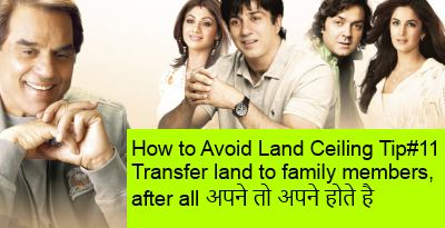 Land Ceiling in India how to avoid