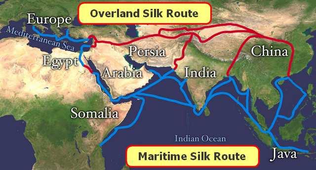 Map-Maritime Silk Road China 1