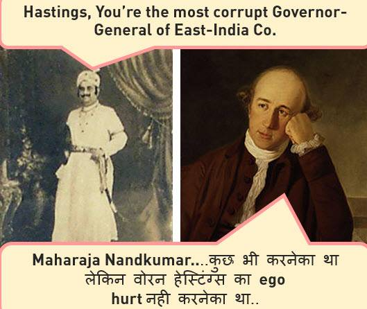 Warren Hastings Maharaja Nandkumar