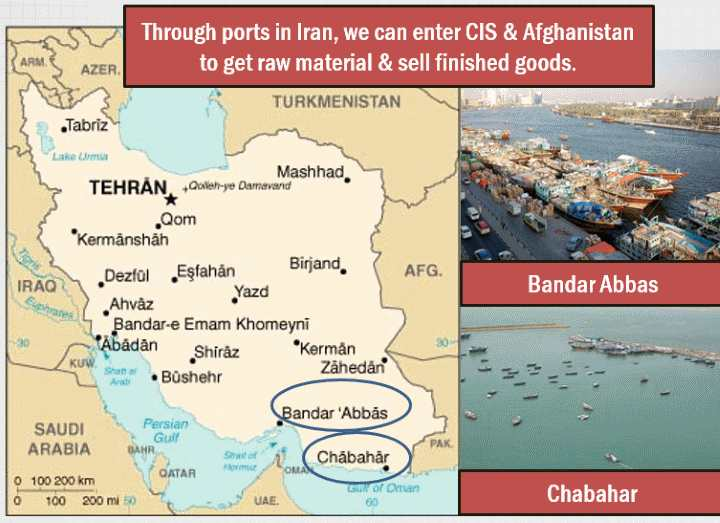 Map Iran Bandar Abbas Chahbahar port