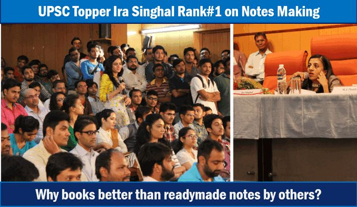 IAS topper Ira Singhal on notes making