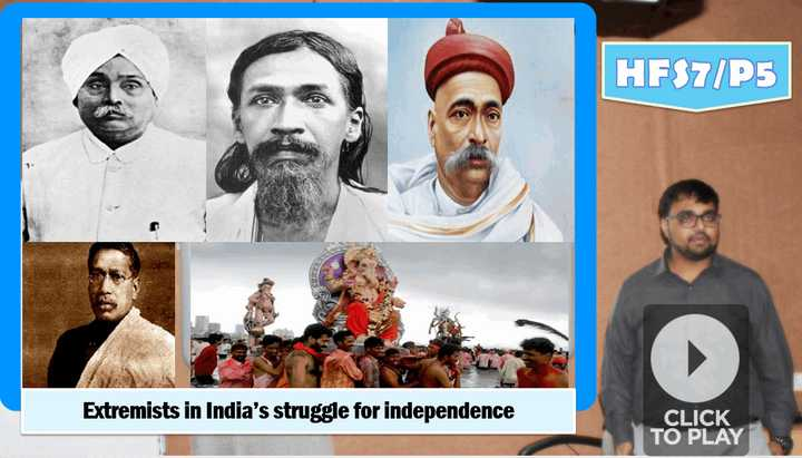 extremist movement for freedom of India