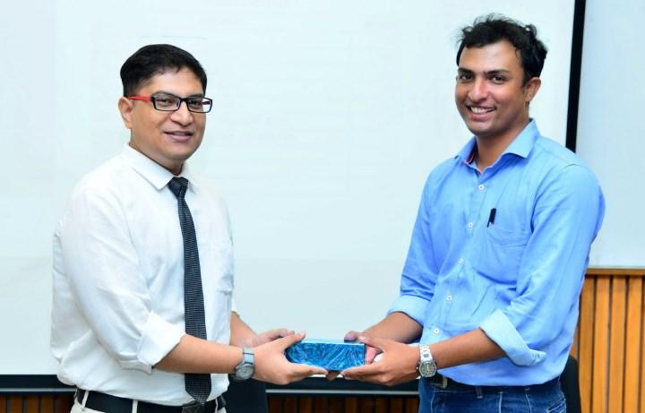 Tejas Parmar with Mrunal Patel