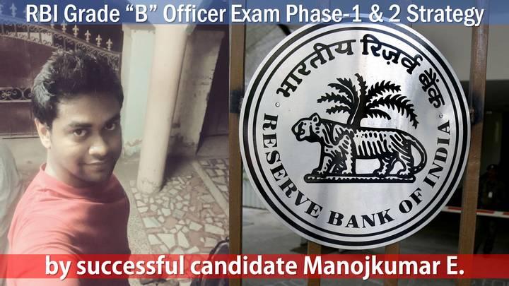 RBI Grade B officer Manoj Kumar strategy tips