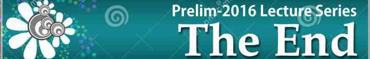 UPSC prelims-2016 lecture series end