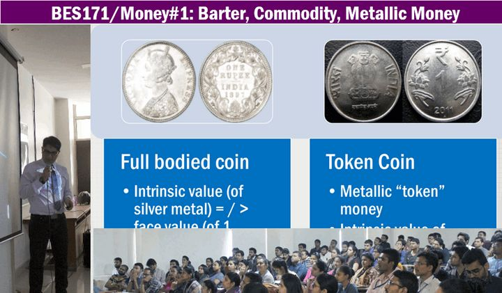 Functions of Money, Full Bodied coins vs Token Coins, debasement