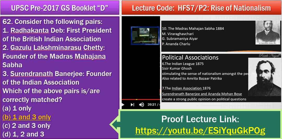 UPSC History Answer key Chetty