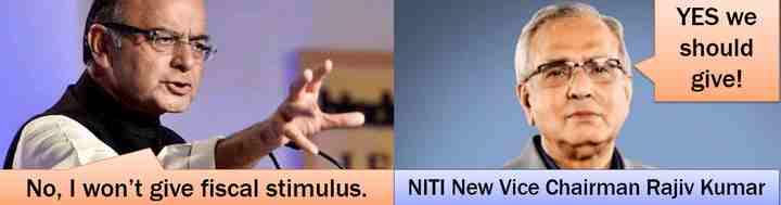 Jaitley vs Rajiv Kumar