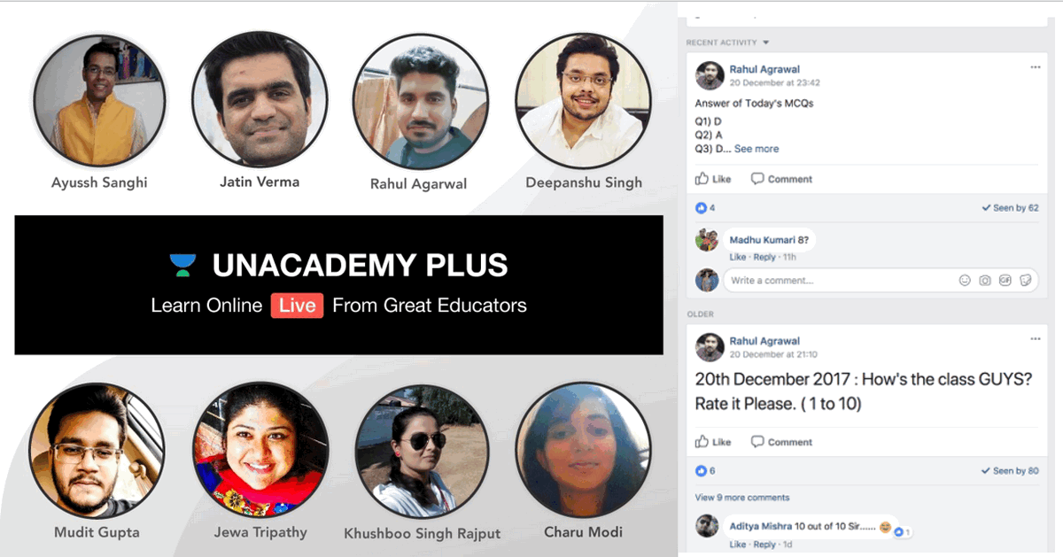 unacademy faculties tutors educators
