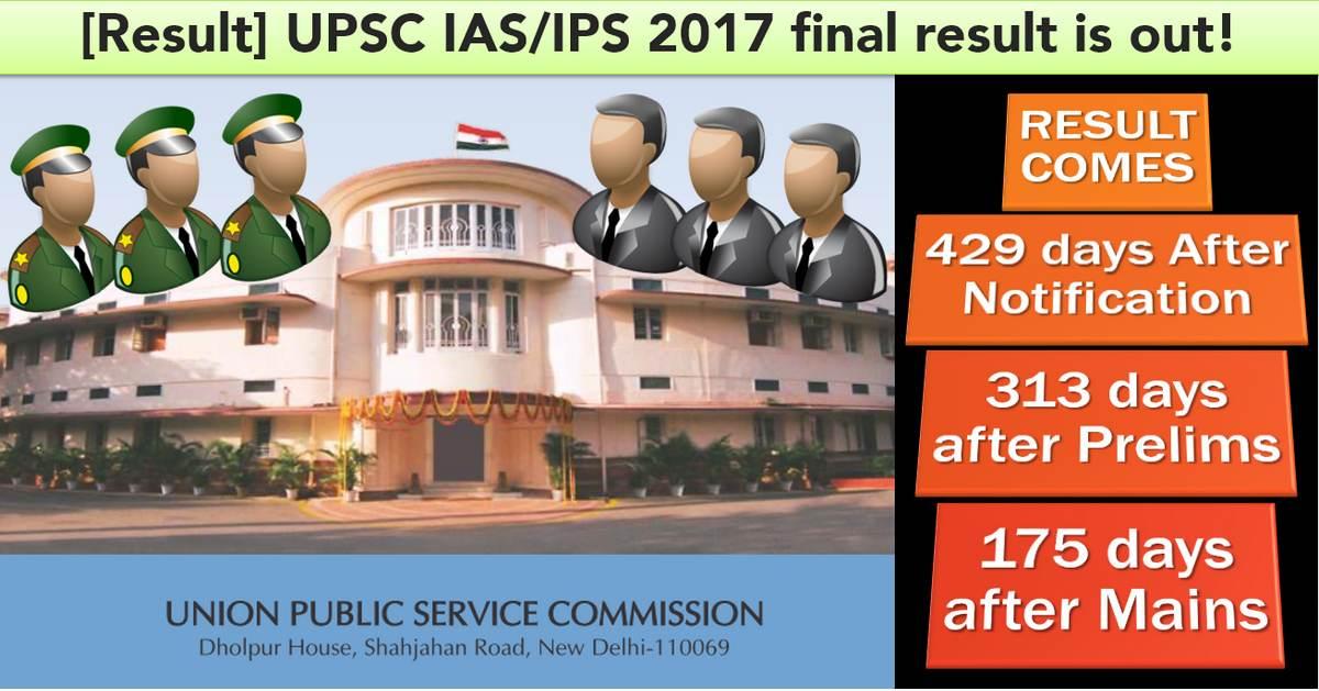 UPSC final result 2017