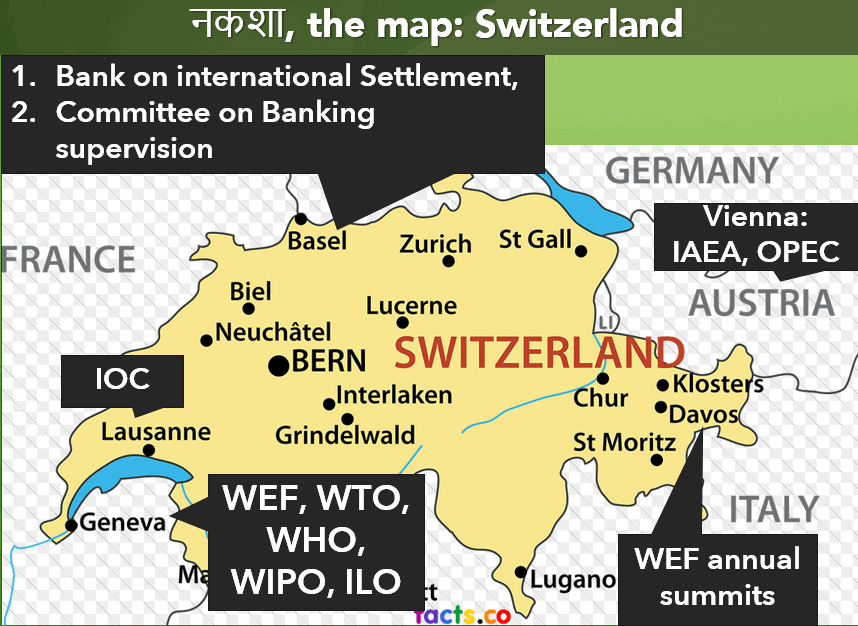 Switzerland Map BASEL