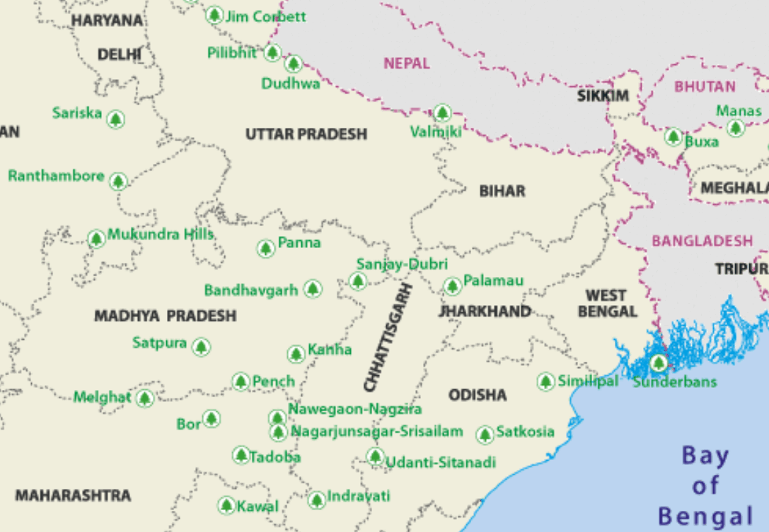 TIGER NATIONAL PARKS IN INDIA