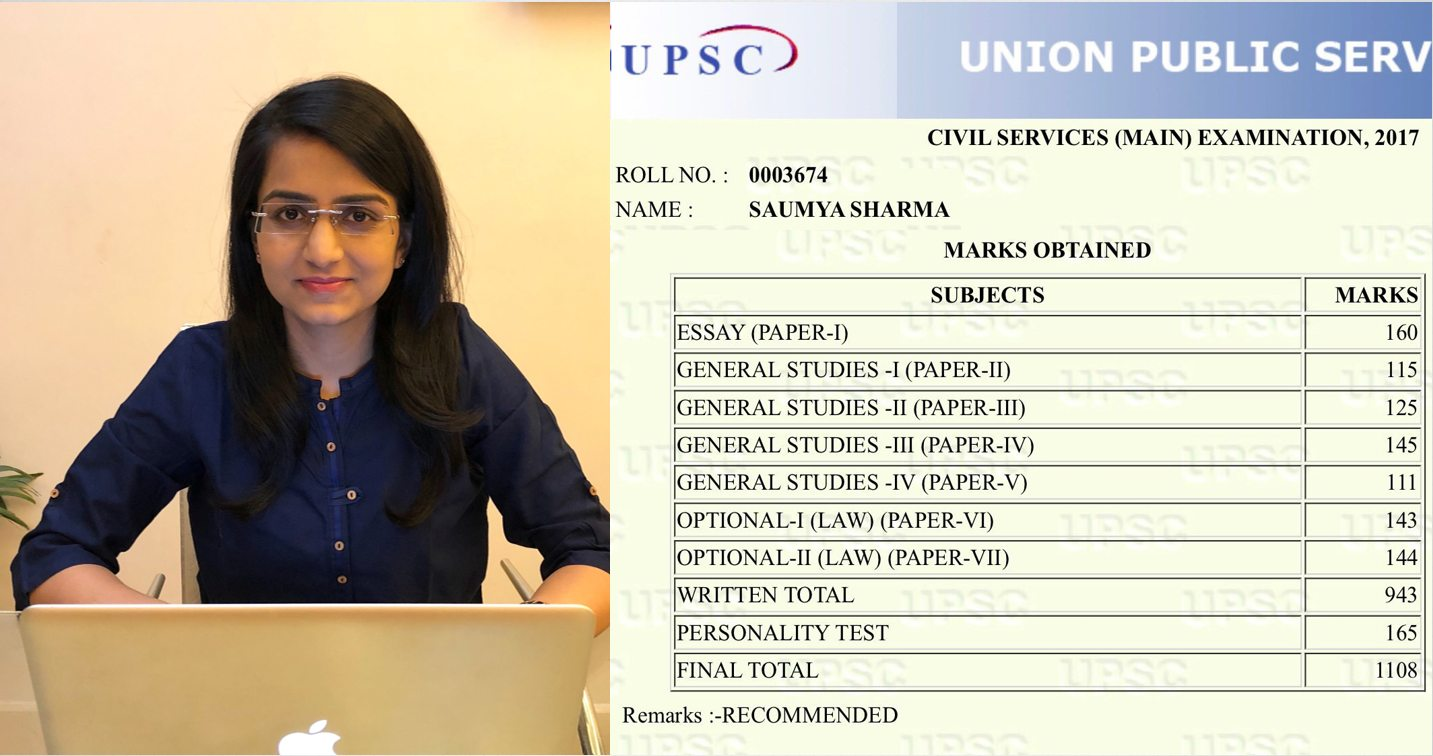 UPSC Rank#9 Saumya Sharma: 1st Attempt, Law Optional, Delhi