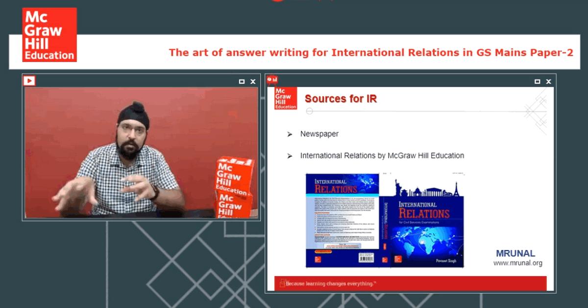 Pavneet Singh Vajiram Faculty International Relation Lecture