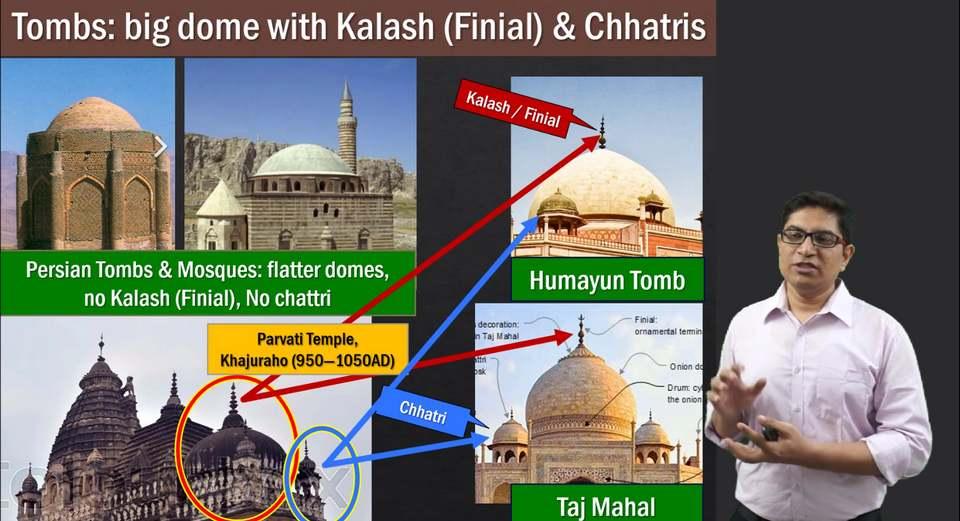 Mughal Architecture : Domes Kalash Taj Mahal