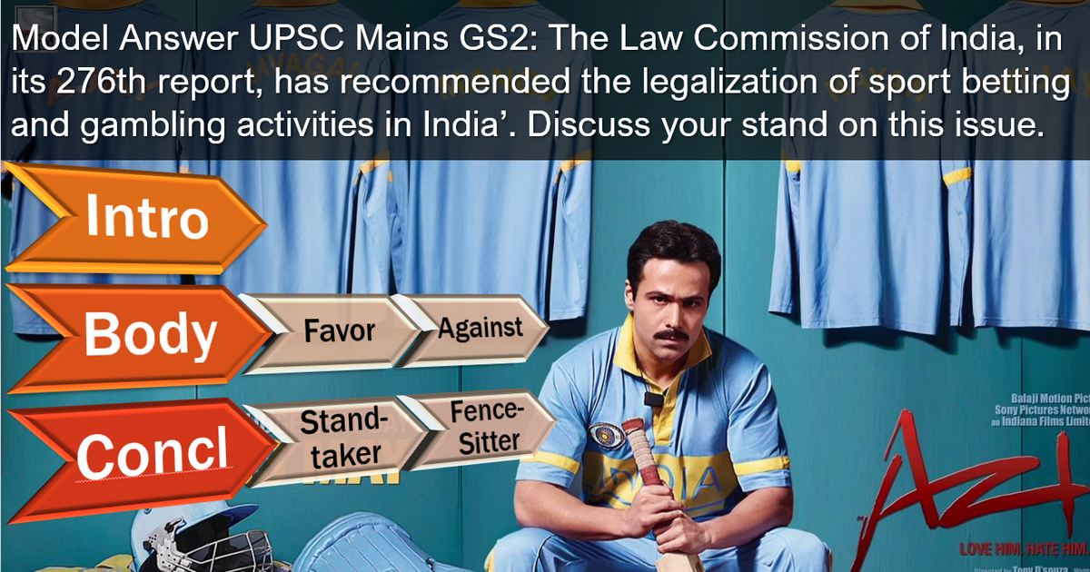 Law commission of India legalisation of Sports-betting