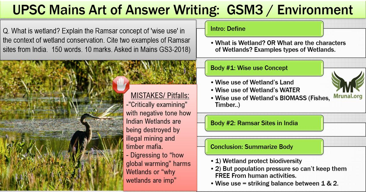 UPSC Model Answer for Ramsar Wetland