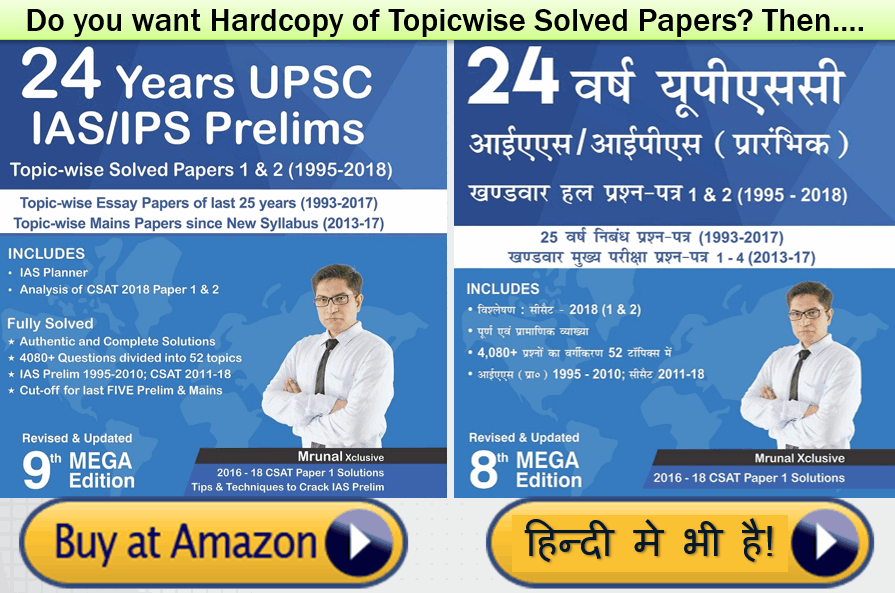 UPSC Prelims: Free Topicwise Solved Papers for your