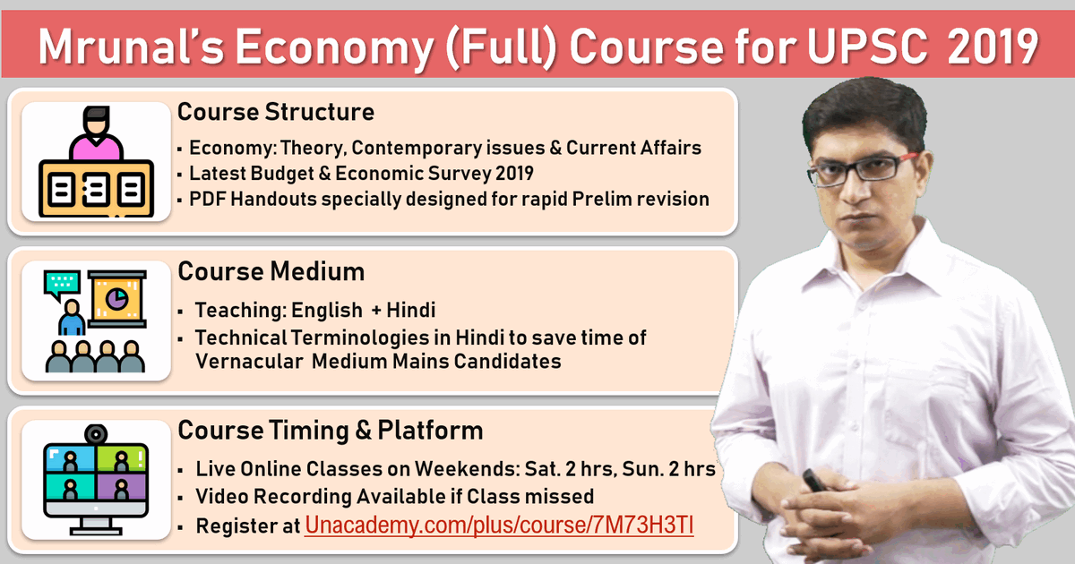 Mrunal's Economy Live Classes for UPSC 2019