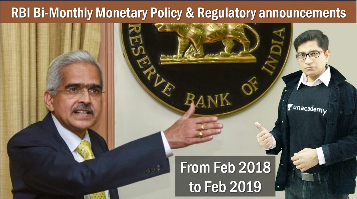 Bi-Monthly Monetary Policy of RBI 2018-19