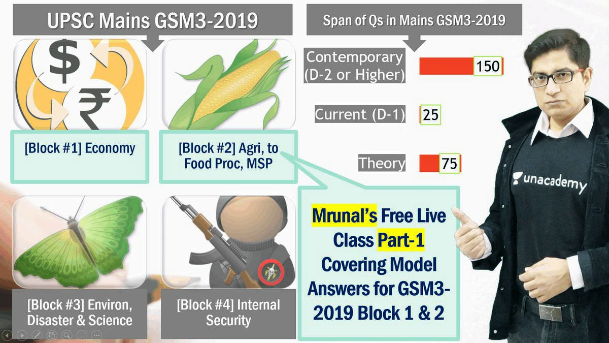 UPSC GSM3-2019: Model Answers for Economy by Mrunal