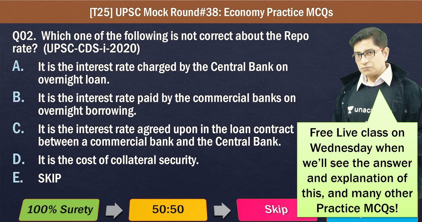 UPSC Prelims Mock Testseries for Economy Practice MCQs