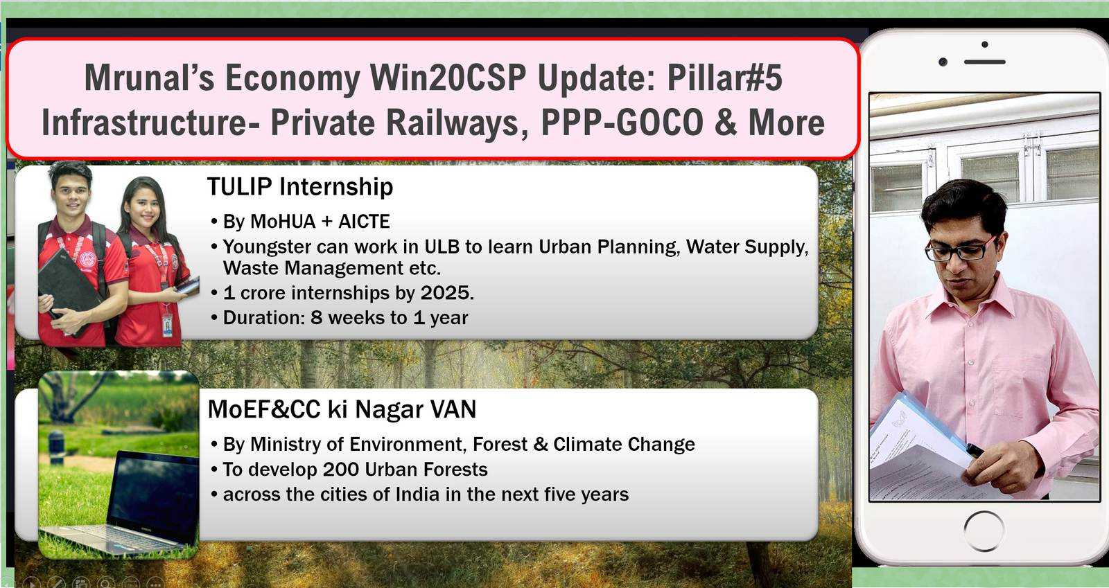 Infrastructure: Private Railways, Tulip, Nagarvan GOCO-PPP & More