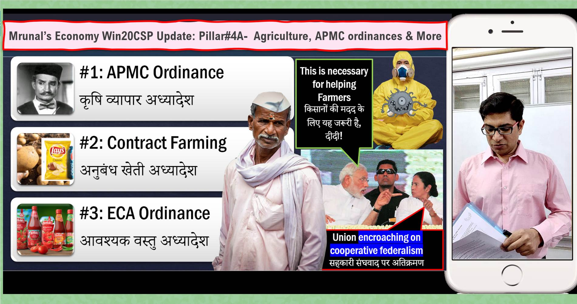 [Win20CSP] Mrunal's Free Economy Update Lecture#9: APMC Ordinance, Contract Farming Ordinance, Agriculture Schemes & More in Pillar4A