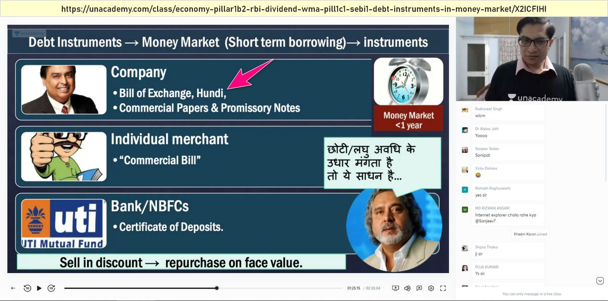 UPSC Prelims Answerkey Economy Hundi And bill of exchange