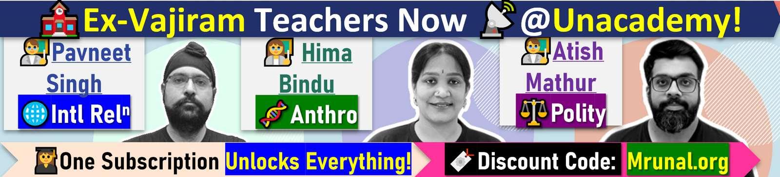Vajiram Teachers Join Unacademy